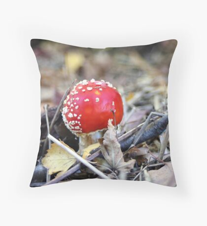 Red Cap Throw Pillow