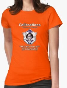 ME3 - Calibrations BLUE Womens Fitted T-Shirt