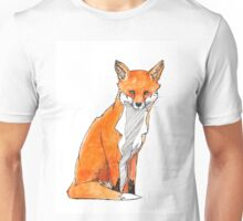 Sitting Fox Unisex T-Shirt