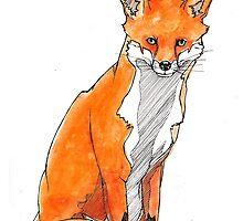 Sitting Fox by lintho