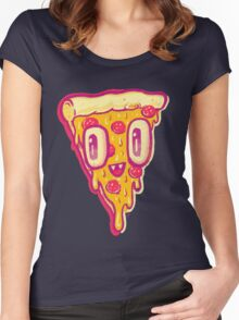 Pizza Face Buddy Women's Fitted Scoop T-Shirt