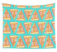 Pizza Face Buddy Wall Tapestry