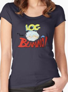 Log from Blammo Women's Fitted Scoop T-Shirt