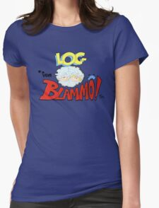 Log from Blammo Womens Fitted T-Shirt