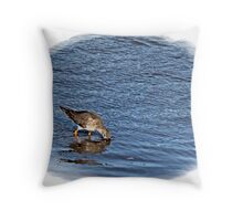 """ Gotya, another one down the hatch"" Throw Pillow"