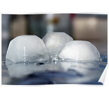 Ice cubes Poster