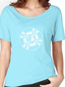 Mandala 42 Yin-Yang Simply White  Women's Relaxed Fit T-Shirt