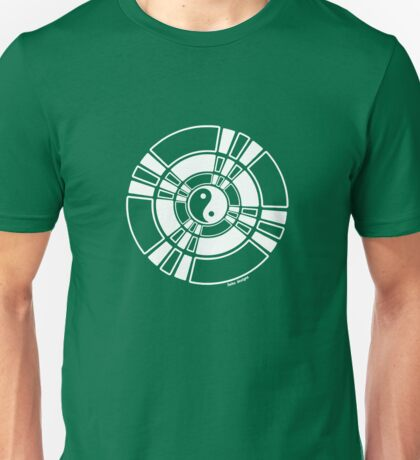 Mandala 42 Yin-Yang Simply White  Unisex T-Shirt