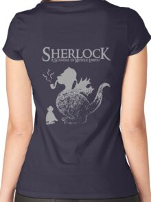 Sherlock: A Scandal in Middle-earth (Grey) Women's Fitted Scoop T-Shirt