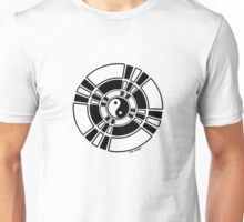 Mandala 42 Yin-Yang Back In Black  Unisex T-Shirt