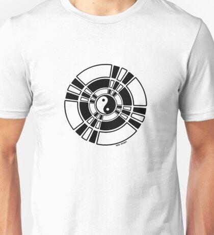 Mandala 42 Yin-Yang Back In Black  Unisex T-Shirt