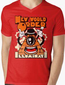 Anti New World Order - Clockwork Orange Mashup Mens V-Neck T-Shirt