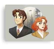 Mulder And Scully Metal Print