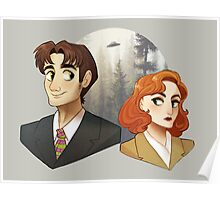 Mulder And Scully Poster