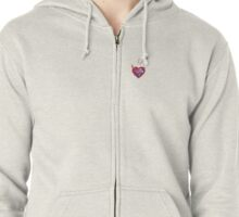 Male to Male plus Female Bisexual Preference Design Zipped Hoodie