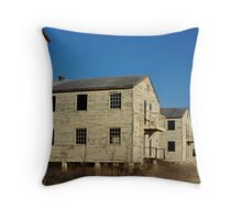 Old Army Barracks Throw Pillow