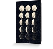 Moon Cycle Greeting Card