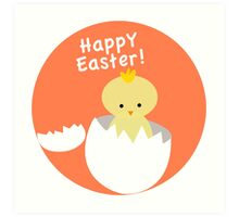 Happy Easter from Chicky! Art Print