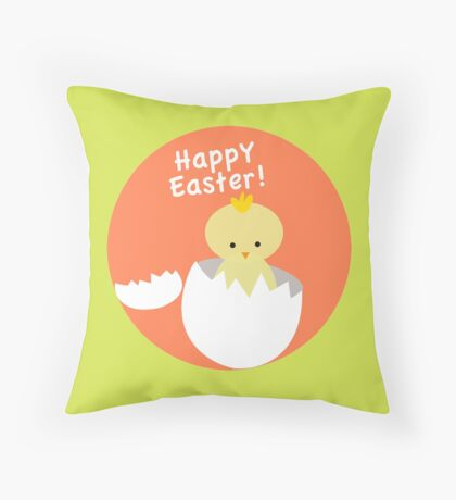 Happy Easter from Chicky! Throw Pillow