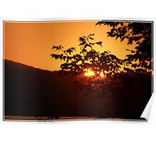 Sunset In Gold Ripple Poster