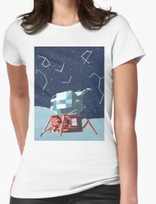Apollo Moon Landing Womens Fitted T-Shirt