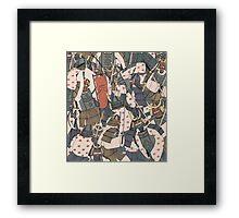 Samurai Ghosts Framed Print