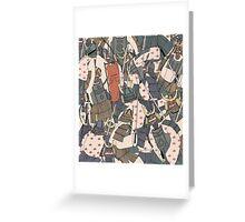 Samurai Ghosts Greeting Card