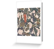 Samurai Ghosts Greeting Card