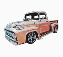 Ford Pickup on White Bread from VivaChas! Kids Clothes