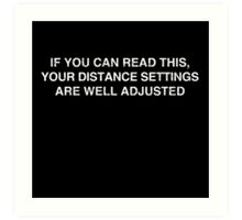 Gamer: Distance Settings Art Print