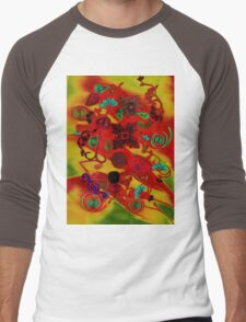 Quilling Collage Men's Baseball ¾ T-Shirt