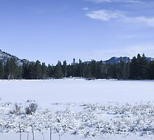 Sprague Lake winter panorama by Kevin Williams