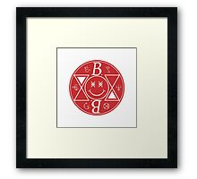 Bromance - Red Logo Framed Print
