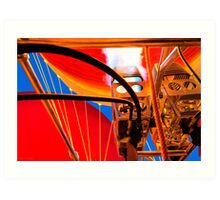 Hot Air Balloon Burners Ignited Art Print