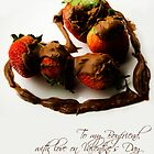 Chocolate Strawberry Valentine's Card - Boyfriend by -raggle-