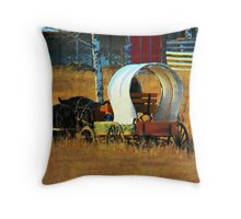 Chuckwagon Team Throw Pillow