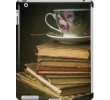 Still life with old books and teacup iPad Case/Skin
