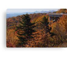 View from Blue Ridge Parkway near Linn Cove Viaduct Canvas Print