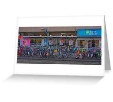 Cycle park at the supermarket Greeting Card