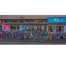 Cycle park at the supermarket Photographic Print