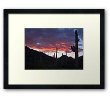Sundown Tucson  Framed Print