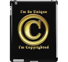 Copyright Symbol So Unique Gold Design iPad Case/Skin