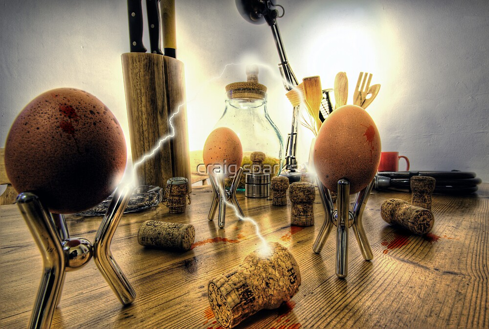 The Egg Wars II - Battery Assault by craig sparks