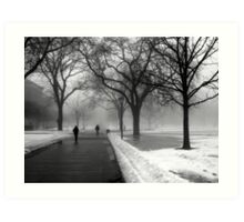 Foggy Day in Winter Art Print