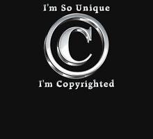 Copyright Symbol So Unique Silver Design Zipped Hoodie