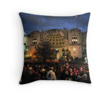 Night Game at the Horseshoe Throw Pillow
