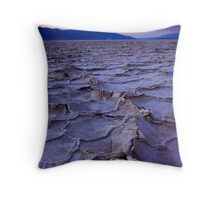 Salted Sunset | Badwater, Death Valley Throw Pillow