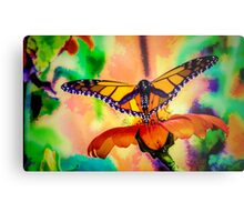 Monarch Butterfly & Mexican Sunflower Metal Print