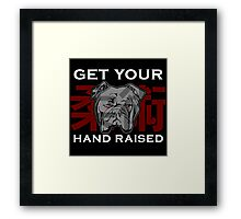 """Get Your Hand Raised"" - Jiu Jitsu Bulldog Framed Print"