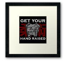 """Get Your Hand Raised"" - Jiu Jitsu Bulldog Framed Print"